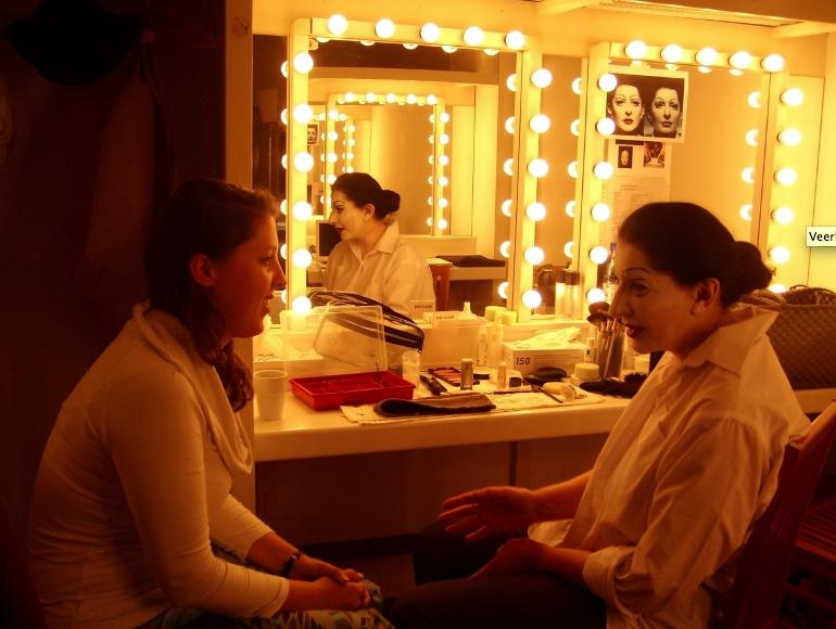 Met Marina Abramovic voor de spiegel