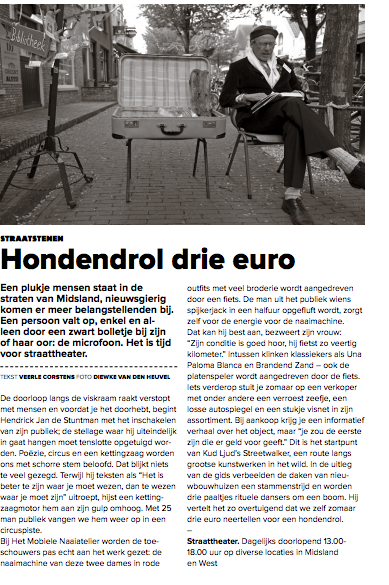 Hondendrol drie euro