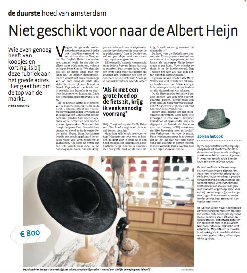 Niet geschikt voor naar de Albert Heijn