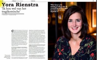 Yora Rienstra: 'Ik hou wel van het tragikomische'